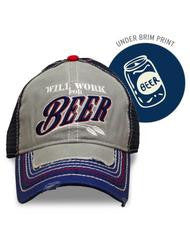 Will Work For Beer Hat