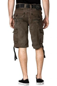 Brown Rock Revival Cargo Shorts
