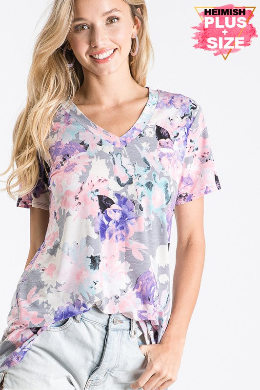 Floral Glimmer Top