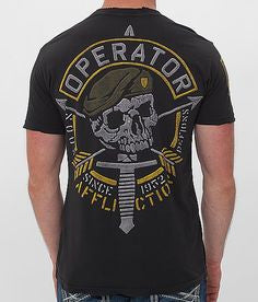 Affliction Operator Speed Green Beret Tee