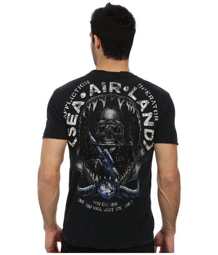 Affliction Sea Air Land Tee