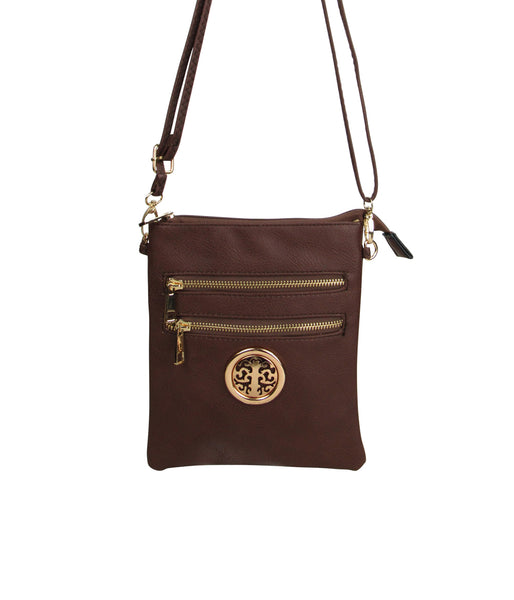 Two Zipper Crossbody
