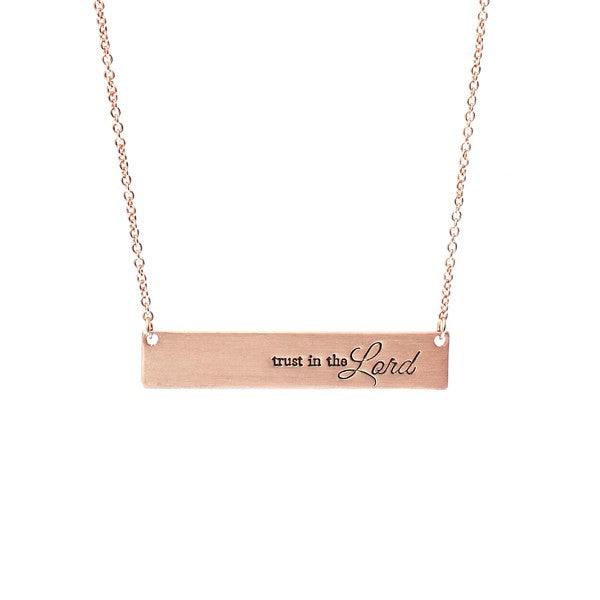 Trust In The Lord Bar Necklace