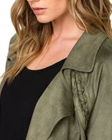 Miss Me Olive Green Suede Jacket