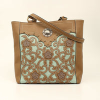 Brown & Teal Conceal Carry Tote