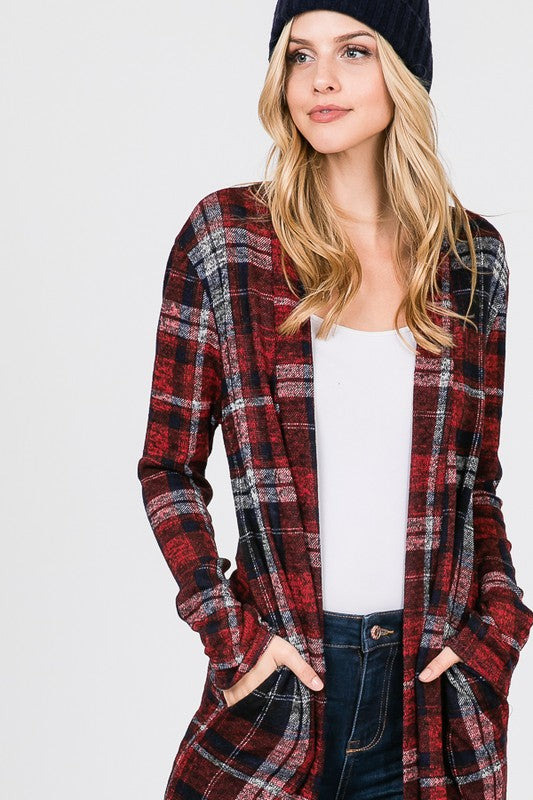 Plaid Checker Cardi