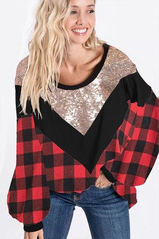 Glitzy Buffalo Top