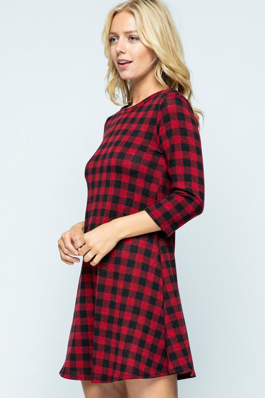 Mini Buffalo Check Dress