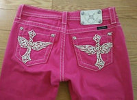 Pink Cross Wing Capri