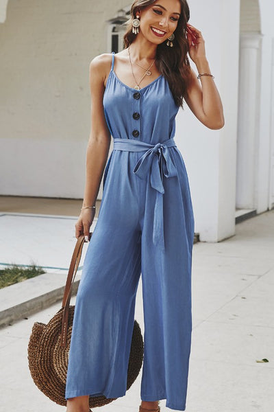 Anna Button Front Jumpsuit