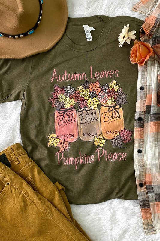 Autumn Leaves Pumpkin Please