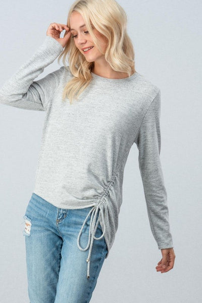 Ruched Sweater