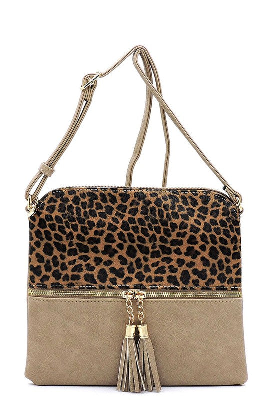Leopard Colorblock Crossbody