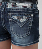 Lace Mid Rise Shorts