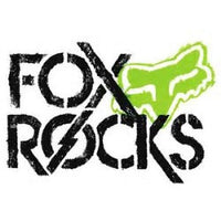 Fox Rocks Sticker