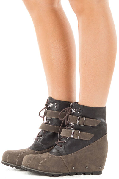 Hermione Wedge Booties
