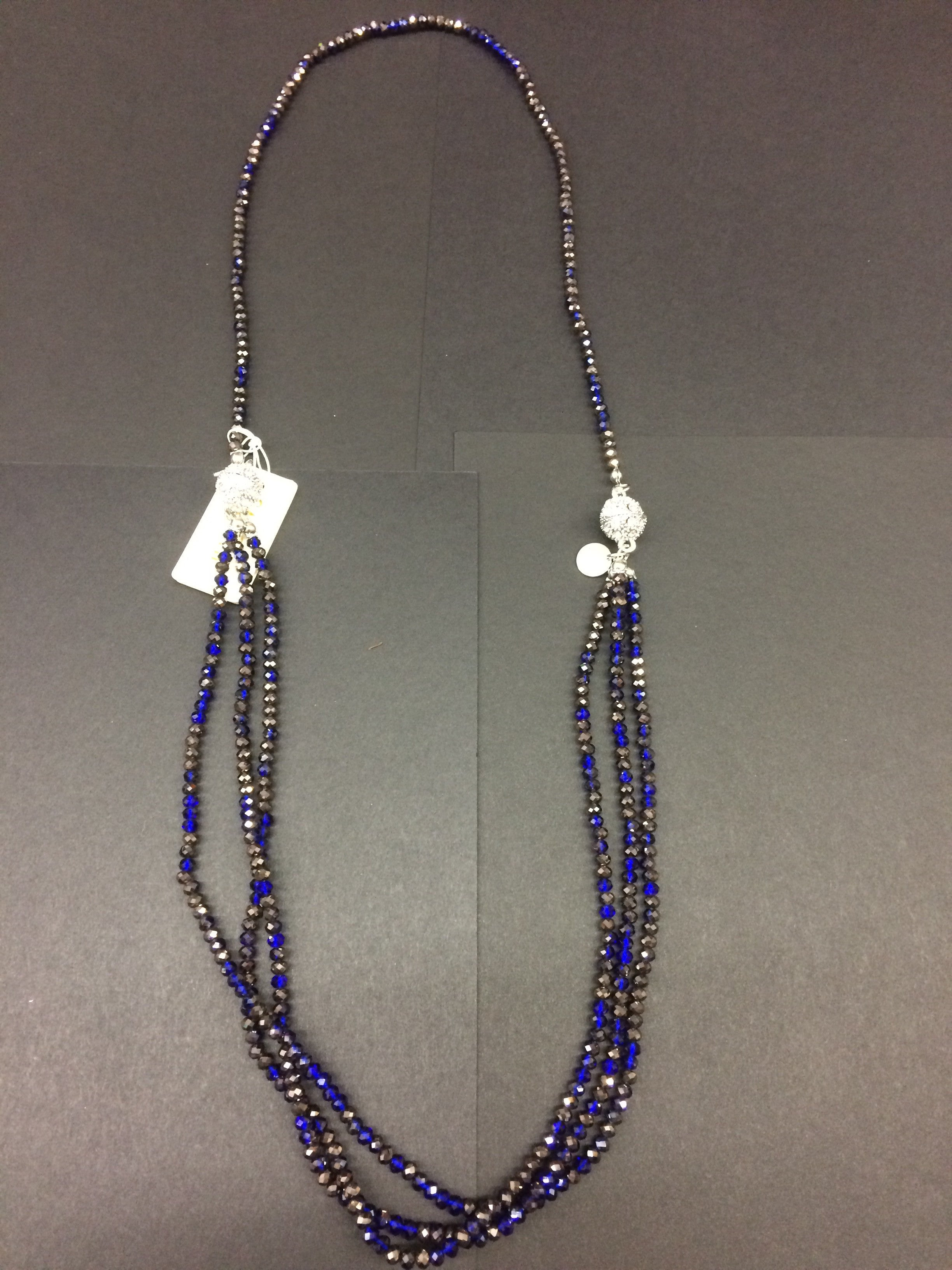 Crystal Multi Strand Necklace