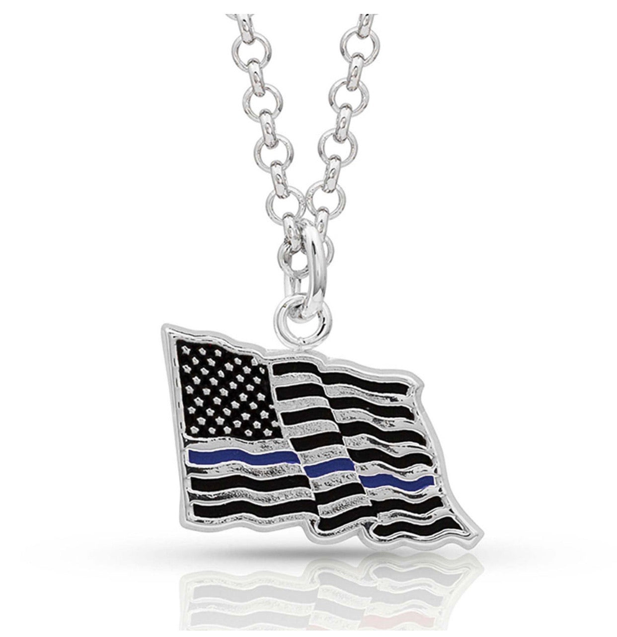 Thin Blue Line Necklace