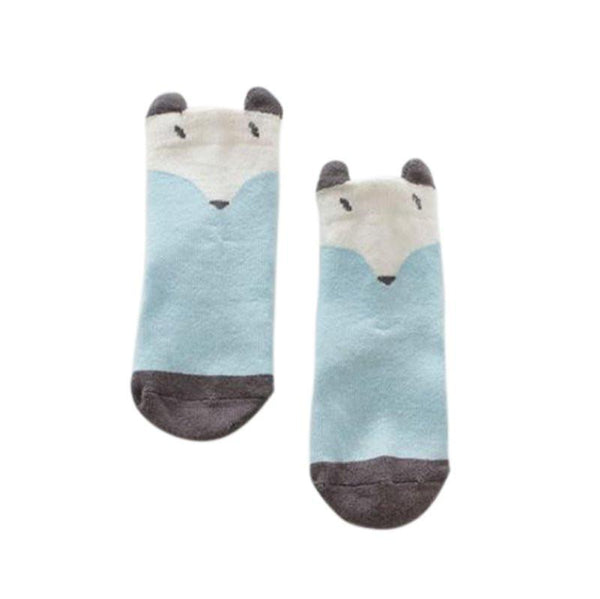 Aenyx Blue / 19-24 months Fox and Cat Baby Socks