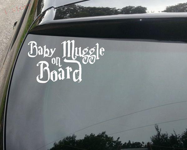Aenyx White Baby Muggle on Board Cute Harry Potter Car Decal Sticker