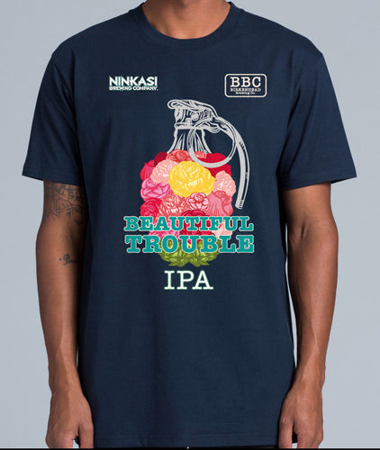 Mens T Shirt | Beautiful Trouble IPA | BBC & Ninkasi Brewing
