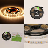 12V UL Strip Light 3528 SMD 16.5ft. 2.9W and 1.5w/ft (Free Shipping In USA)