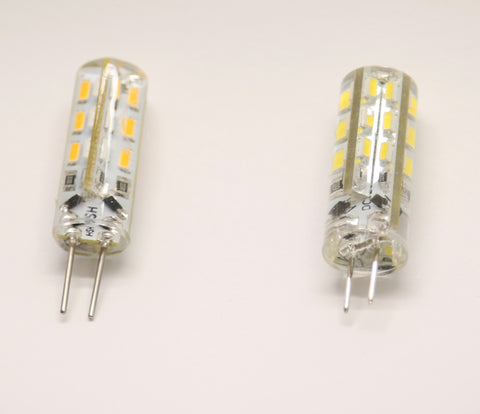LED Corn Bulb Silicone G4 Base Bi-Pin, 12V DC 1.5W