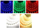 Dimmable 24V RGBW Color Changing LED Strip Indoor 16.4 ft Cuttable