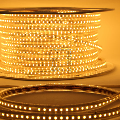 110V LED Strip, Dimmable with power cord plug and play Flexible, Transparent and Durable
