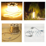 Dimmable 110V LED Strip Light High Lumen  with power cord Connector - Plug and Play