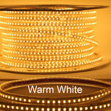 Dimmable 110V LED Strip Light- 165 ft Roll (Cuttable) with power cord Connector - Plug and Play