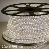 Dimmable 110V LED Strip Light High Lumen- 165 ft Roll (Cuttable) with power cord Connector - Plug and Play