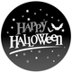 Happy Halloween Spooky Black and Grey Stickers