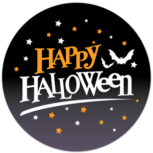 Happy Halloween Full Color Stickers
