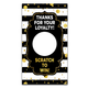 Gold and Black Stripes Loyalty Scratch Off Cards!