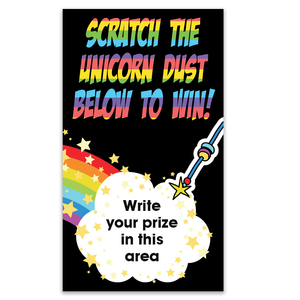 Unicorn Dust Scratch Off Card with Glitter Sticker