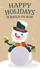 Winter Snowman Scratch Off Card - Fashion Retailer, Fashion Consultant Scratch To Win Christmas