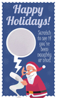 Santa Happy Holidays Scratch Off Card - Fashion Retailer, Fashion Consultant Scratch To Win Christmas
