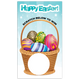 Happy Easter Egg Basket Loyalty Scratch Off Card