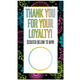Colorful Floral Paisley Loyalty Scratch Off Cards! Fun Fashion Consultant Customer Gift