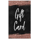 Customizable Rose Gold Glitter Gift Cards