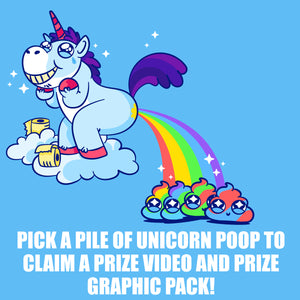 Pick a Pile of Unicorn Poop Video and Graphic Pack