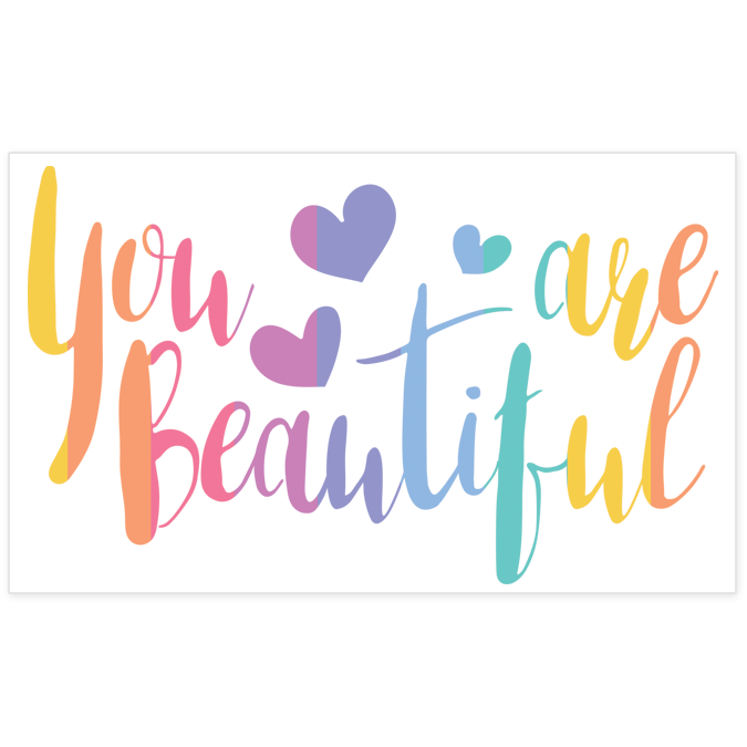 quotyou are beautifulquot pack of stickers � unicorn smiles