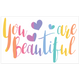 """You are Beautiful"" Pack of stickers"