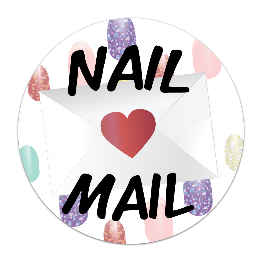 Nail Mail Round Stickers