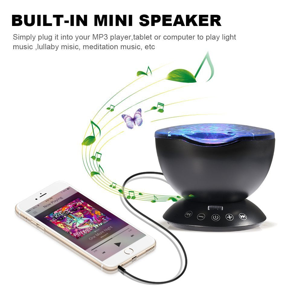 Remote Control Ocean Wave Projector mini Speaker