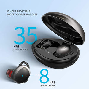 FKANT TWS Wireless Bluetooth Headphones Touch Control with HiFi Stereo in-Ear Gaming Headphones with Mic