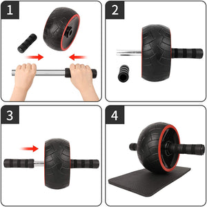 Fitness Equipment for Men Women Abdominal Exercise--Ab Roller