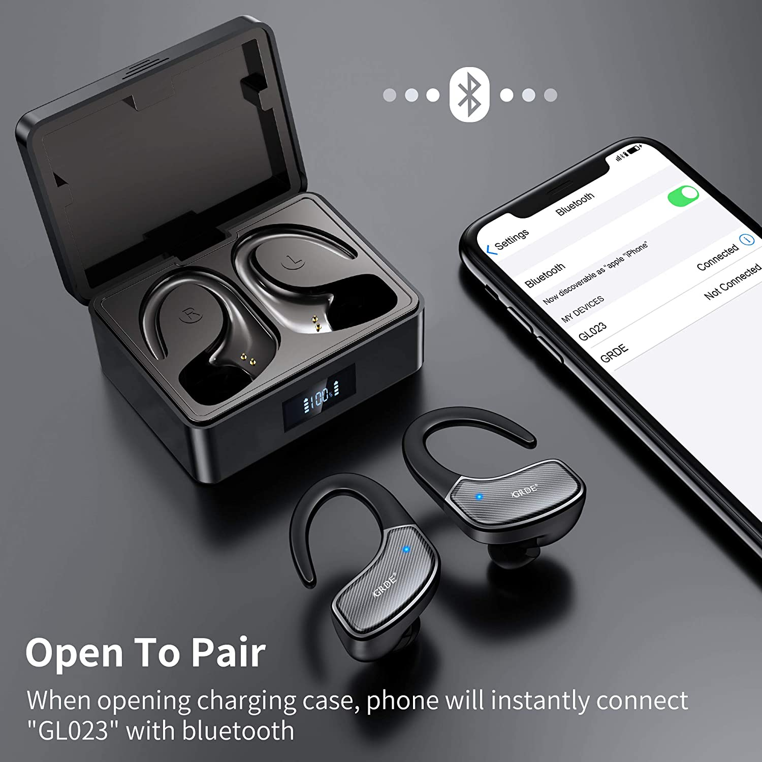 Wireless Earbuds, TWS Bluetooth 5.0 Earbuds, 80 Hrs Playing Time Sport Headphones