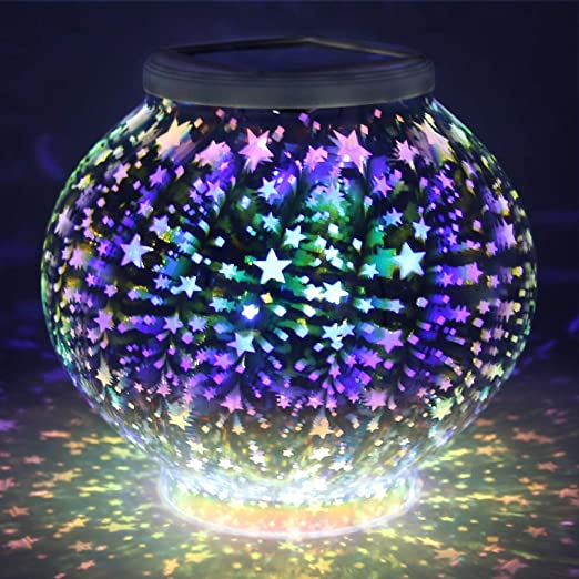 Color Changing Mosaic Solar Light
